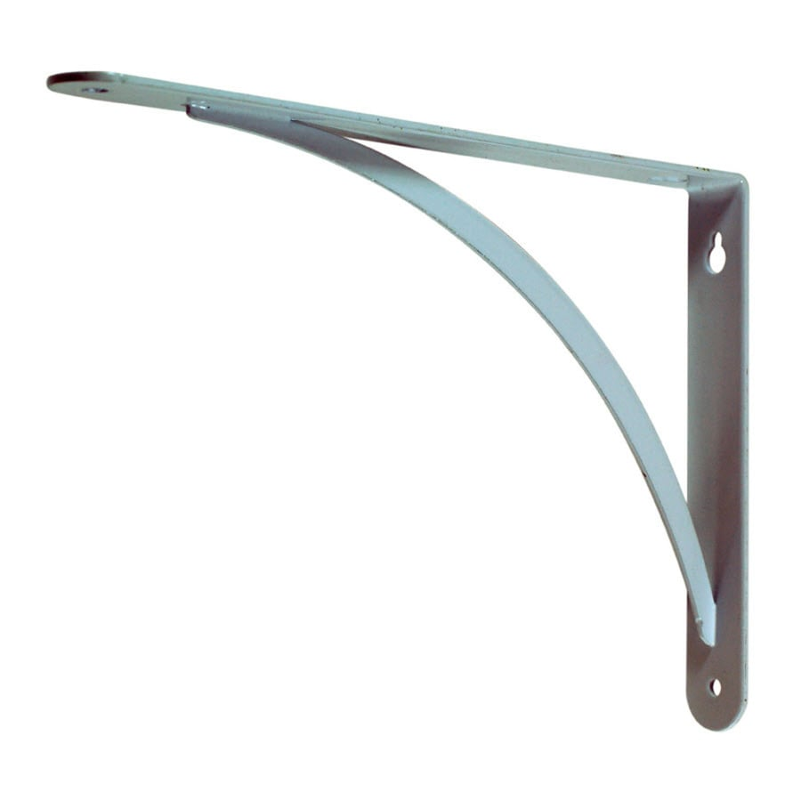 Style Selections Steel 9.0600-in D x 6.5400-in L x 0.9800-in W White Decorative Shelf Bracket