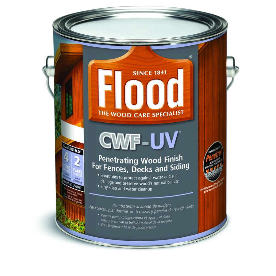Flood CWF-UV Cedar Transparent Exterior Stain (Actual Net Contents: 128 Fluid Ounce(S))
