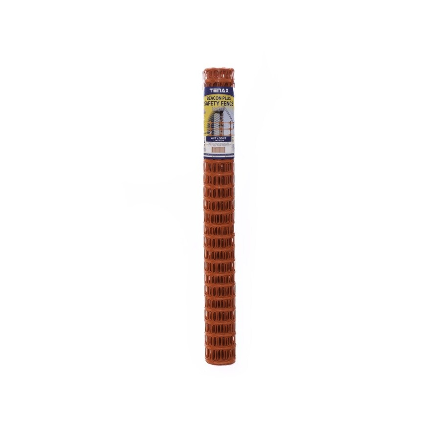 Tenax Beacon Plus Orange HDPE Construction Fence Fabric (Common: 50-ft x 4-ft; Actual: 50-ft x 4-ft)
