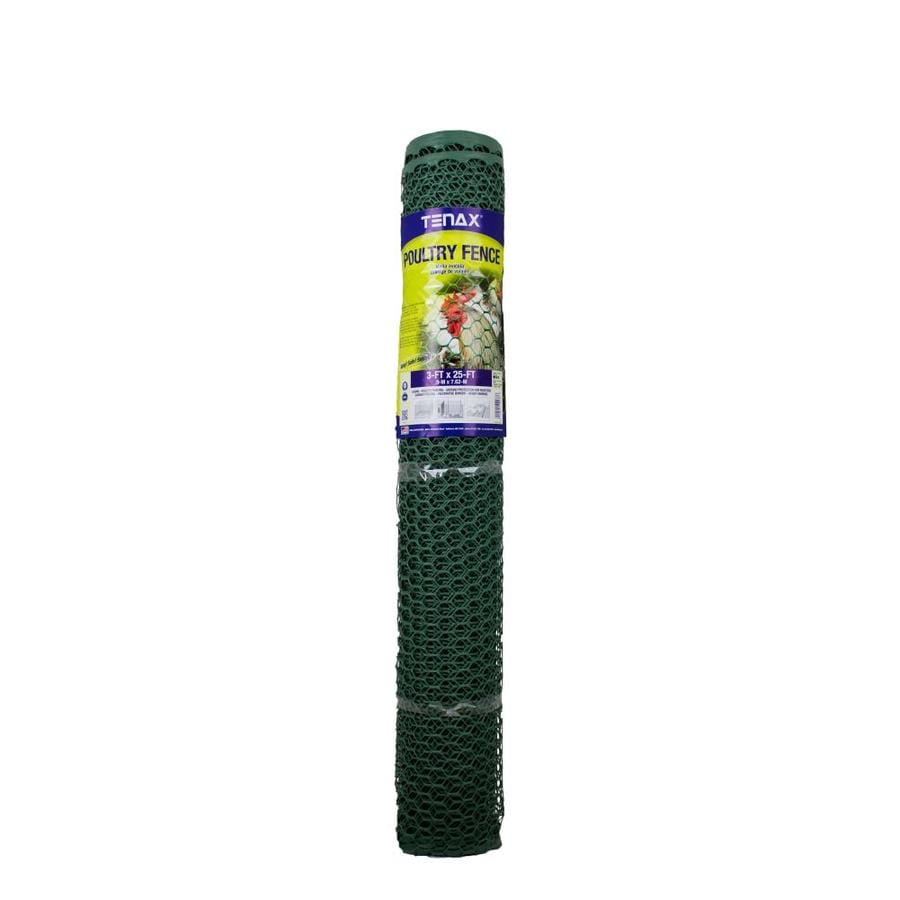 Blue Hawk Poultry Green HDPE Extruded Mesh (Common: 25-ft x 3-ft; Actual: 25-ft x 3-ft)