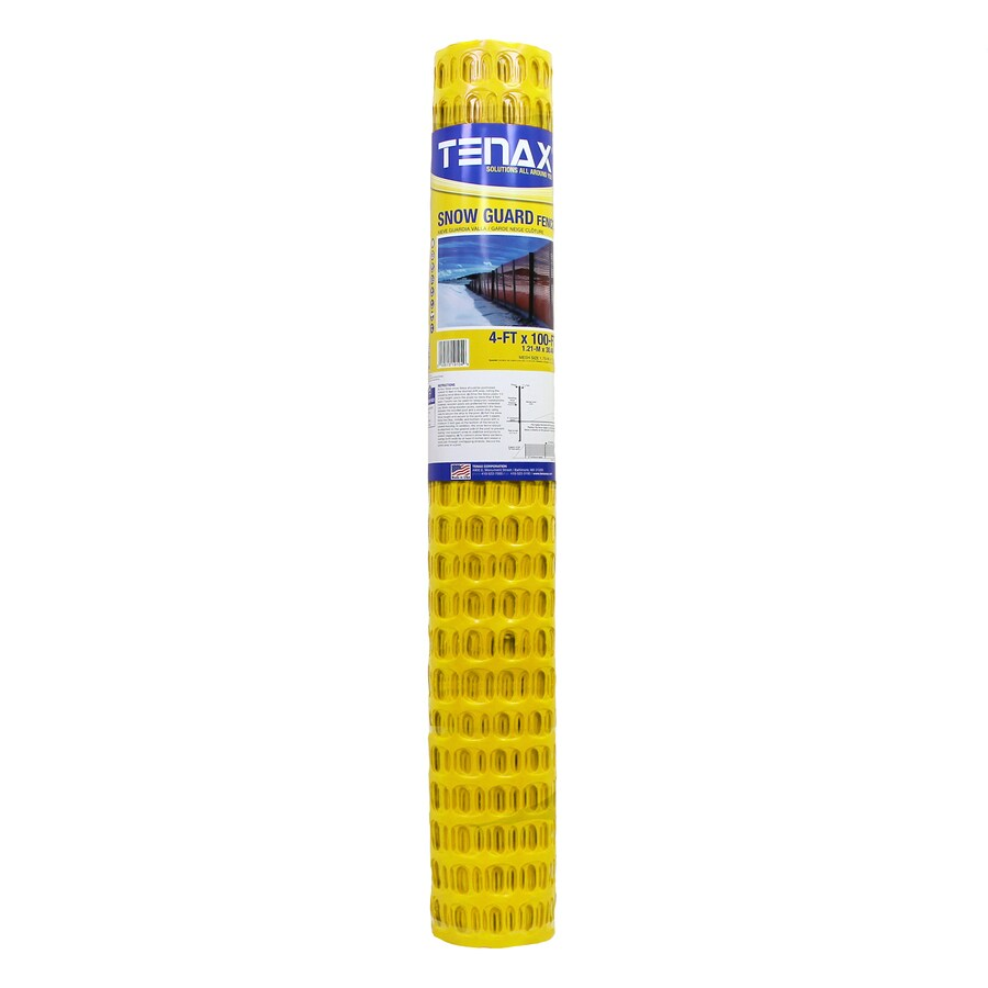 Tenax Snow Guard 100-ft x 48-in Yellow Sand/Snow Fence