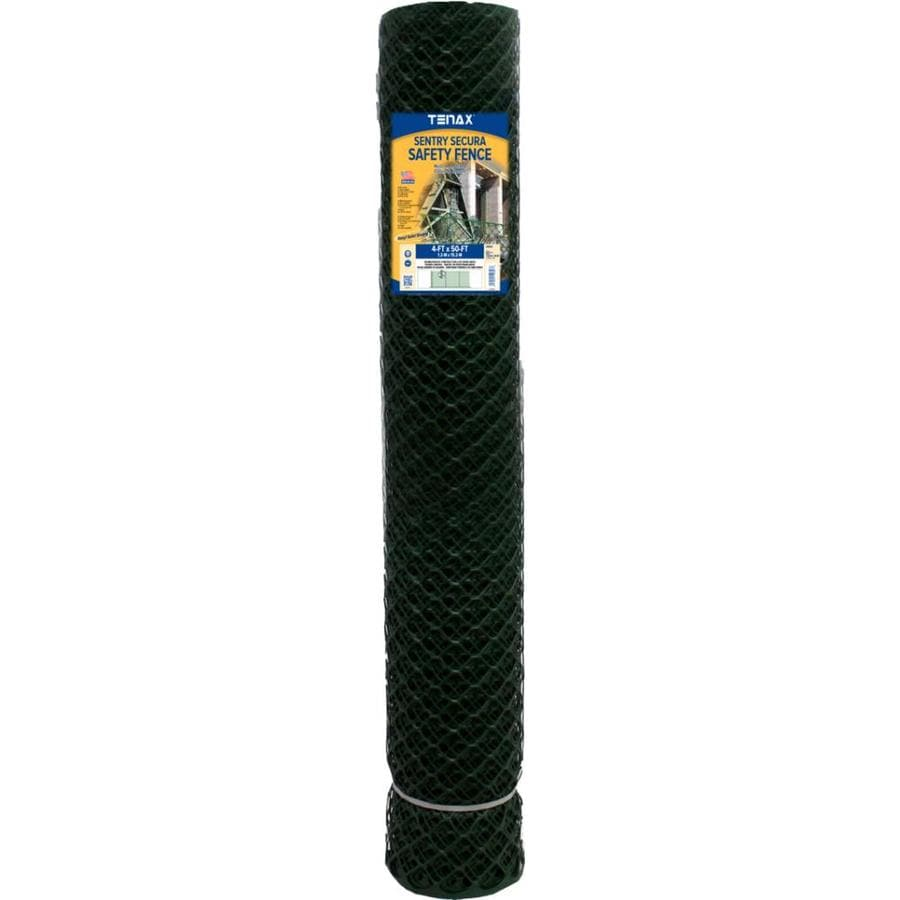 Tenax Sentry Secura Green HDPE Construction Fence Fabric (Common: 50-ft x 4-ft; Actual: 50-ft x 4-ft)