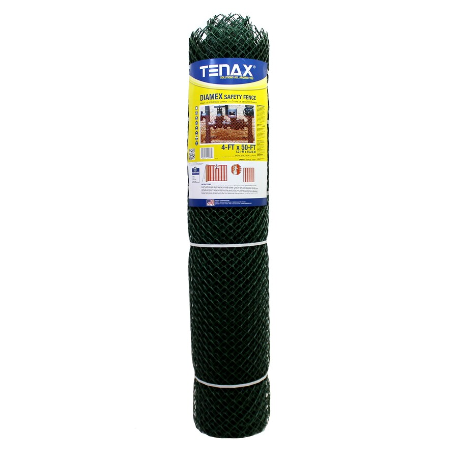 Tenax Diamex Green HDPE Construction Fence Fabric (Common: 50-ft x 4-ft; Actual: 50-ft x 4-ft)