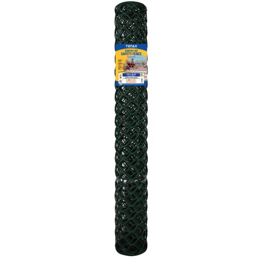 Tenax Sentry HD Green HDPE Construction Fence Fabric (Common: 50-ft x 4-ft; Actual: 50-ft x 4-ft)
