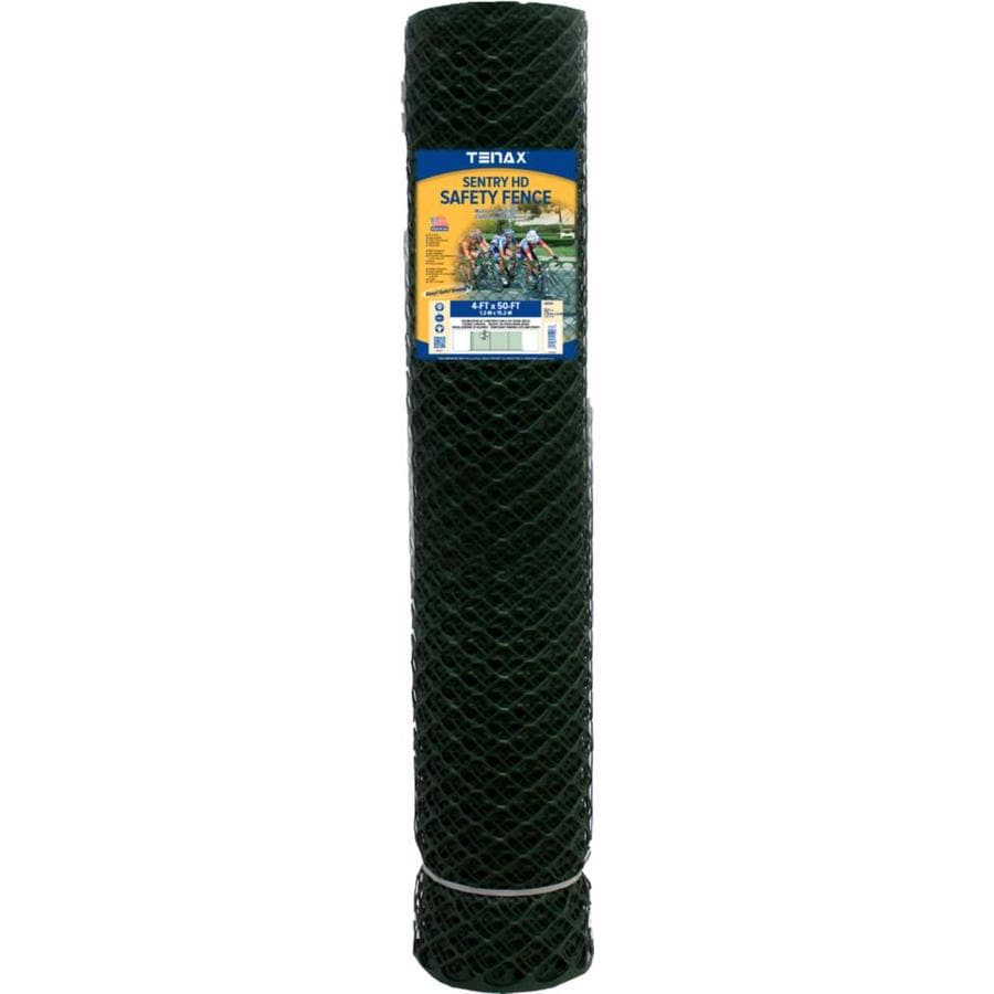 Tenax Sentry HD Black HDPE Construction Fence Fabric (Common: 50-ft x 4-ft; Actual: 50-ft x 4-ft)