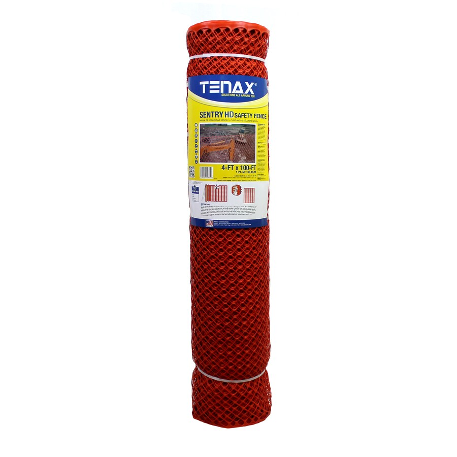 Tenax (Actual: 100-ft x 4-ft) Sentry HD Orange HDPE Construction Fence Fabric