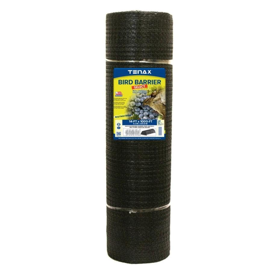 Tenax (Actual: 1000-ft x 14-ft) Ornex LM Black Polypropylene Extruded Mesh Rolled Fencing