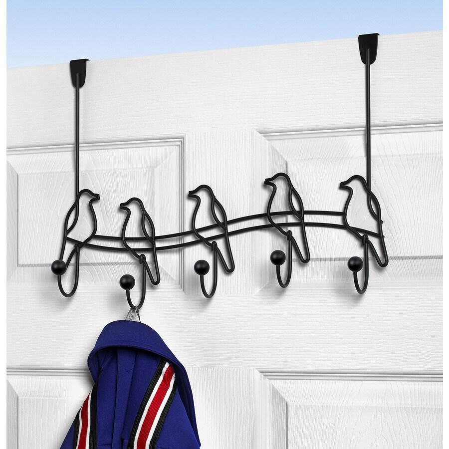 Spectrum Black Over-The-Door 5-Hook Rack
