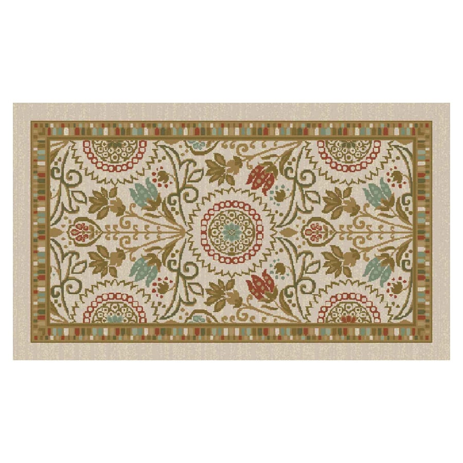 Maples Industries 20 X 34 Beige Arabesque Accent Rug