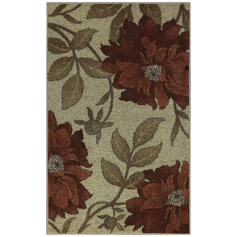 Red Rectangular Indoor Tufted Throw Rug (Common: 3 x 4; Actual: 2.5-ft W x 4-ft L)