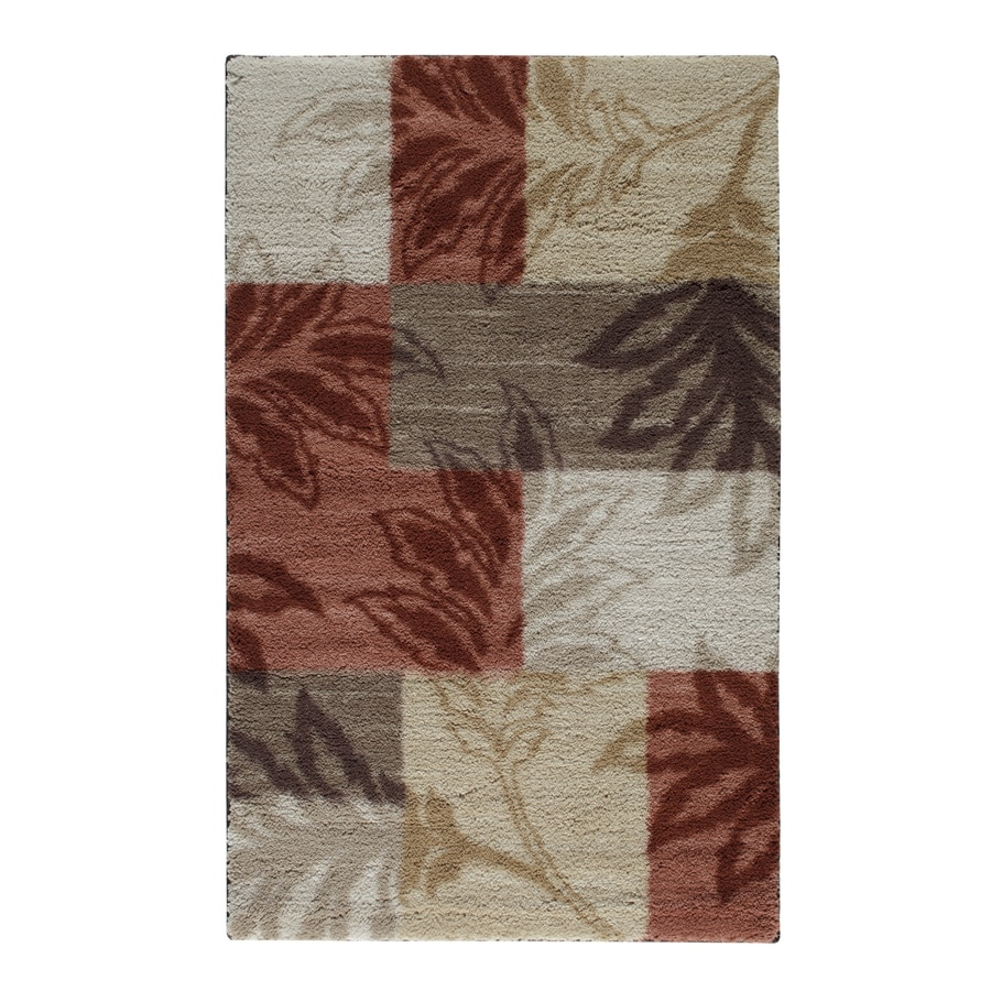 STAINMASTER Red Rectangular Indoor Tufted Throw Rug (Common: 3 x 4; Actual: 2.5-ft W x 4-ft L)