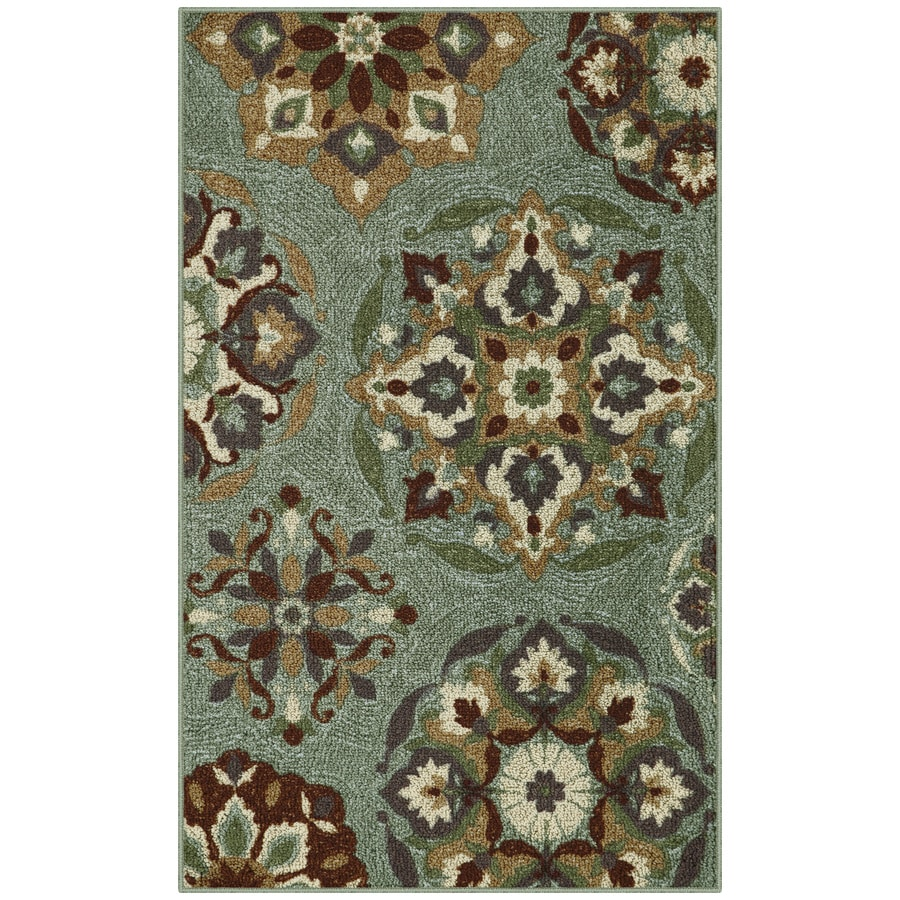Blue Rectangular Indoor Tufted Throw Rug (Common: 3 x 4; Actual: 2.5-ft W x 4-ft L)