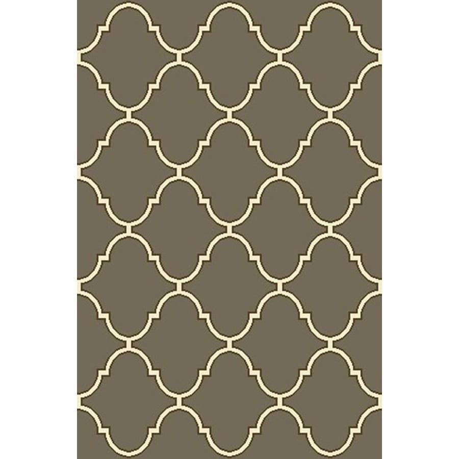 allen + roth Mocha Rectangular Indoor Tufted Throw Rug (Common: 3 x 4; Actual: 2.5-ft W x 3.83-ft L)