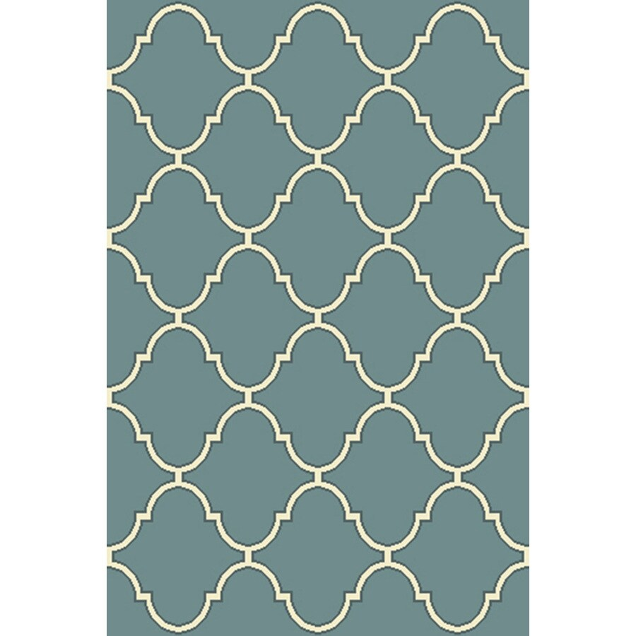 allen + roth Blue Rectangular Indoor Tufted Throw Rug (Common: 3 x 4; Actual: 2.5-ft W x 3.83-ft L)