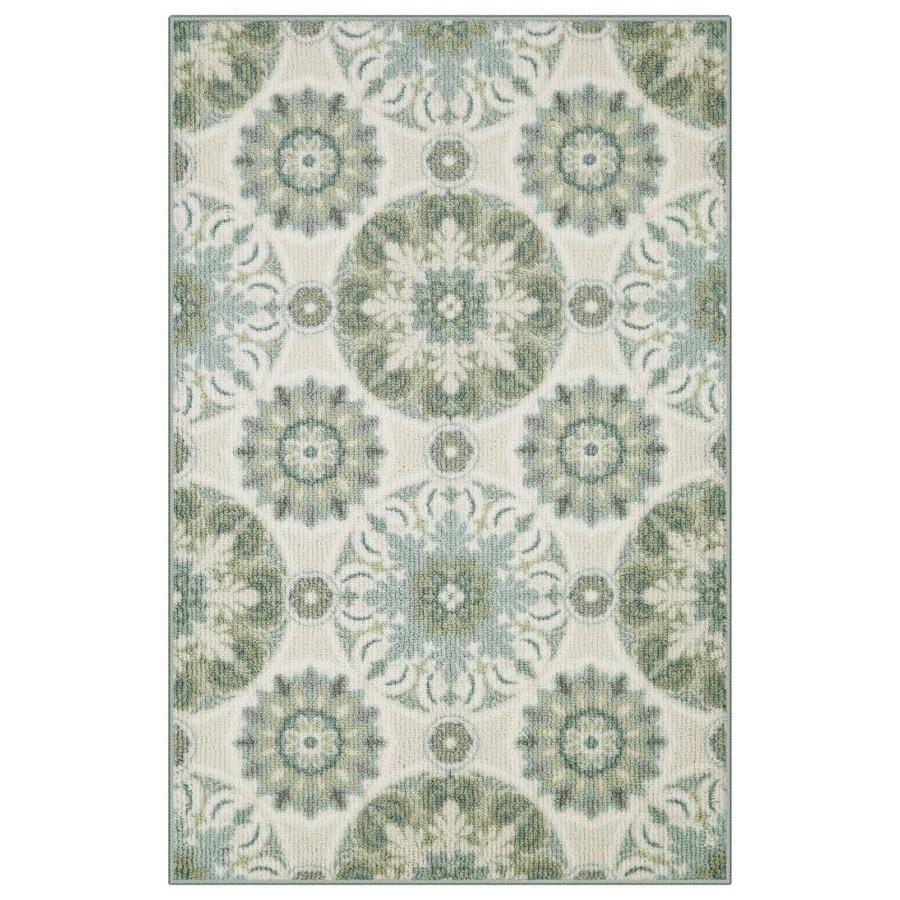 allen + roth Cream Rectangular Indoor Berber Throw Rug (Common: 3 x 4; Actual: 2.5-ft W x 3.83-ft L)