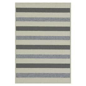Maples Rugs Grey/Sand Rectangular Indoor Machine-Made Throw Rug (Common: 2 x 3; Actual: 1.67-ft W x 2.5-ft L)