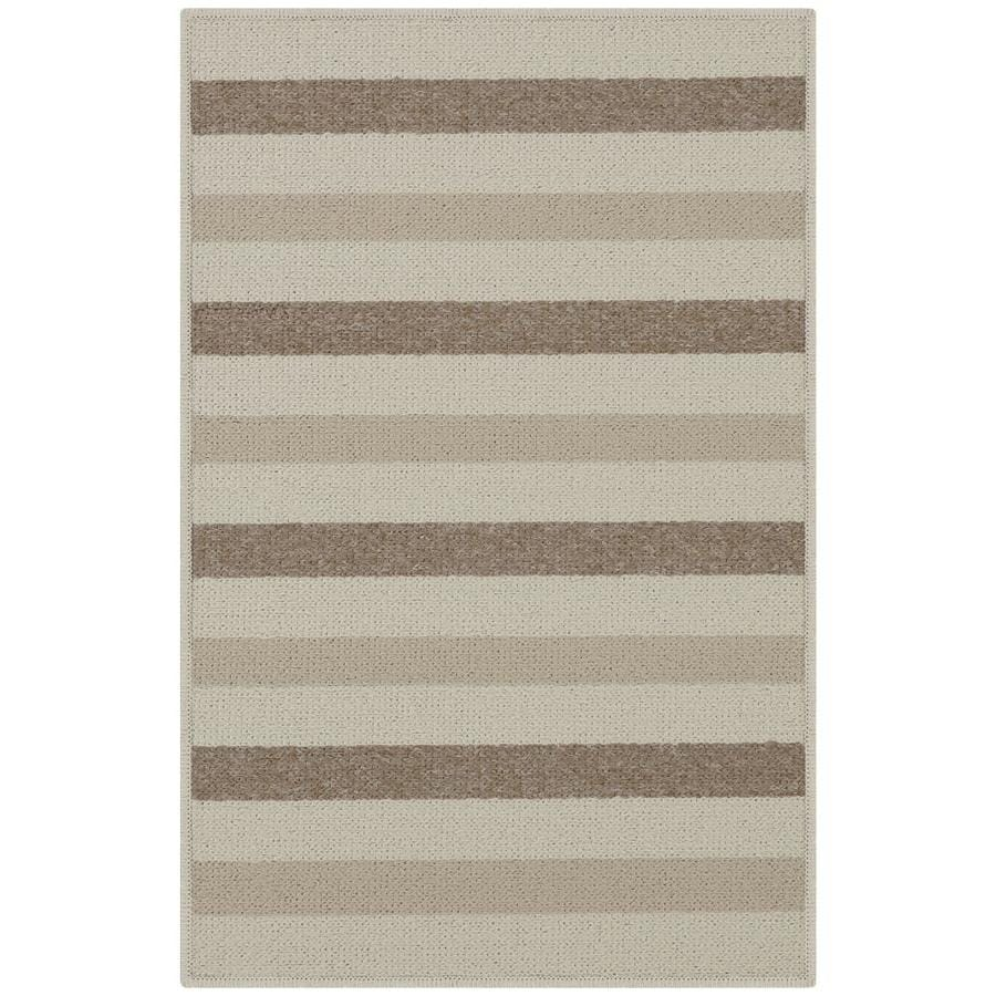 Maples Rugs Beige Rectangular Indoor Tufted Throw Rug (Common: 2 x 3; Actual: 1.67-ft W x 2.5-ft L)