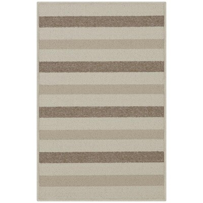 Beige Rectangular Indoor Machine Made Throw Rug Common 2 X 3 Actual 1 67 Ft W 5 L