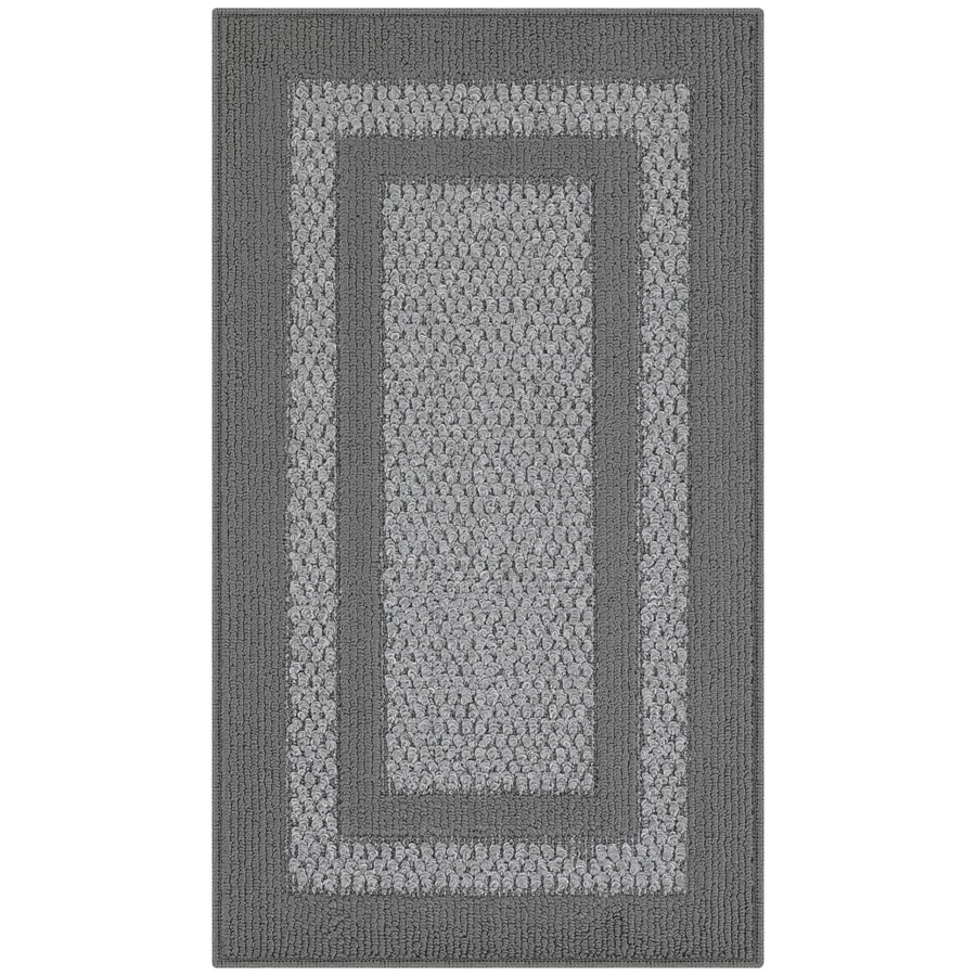 Maples Rugs Graphite/Gray Rectangular Indoor Machine-made Throw Rug (Common: 2 x 3; Actual: 1.67-ft W x 2.83-ft L)