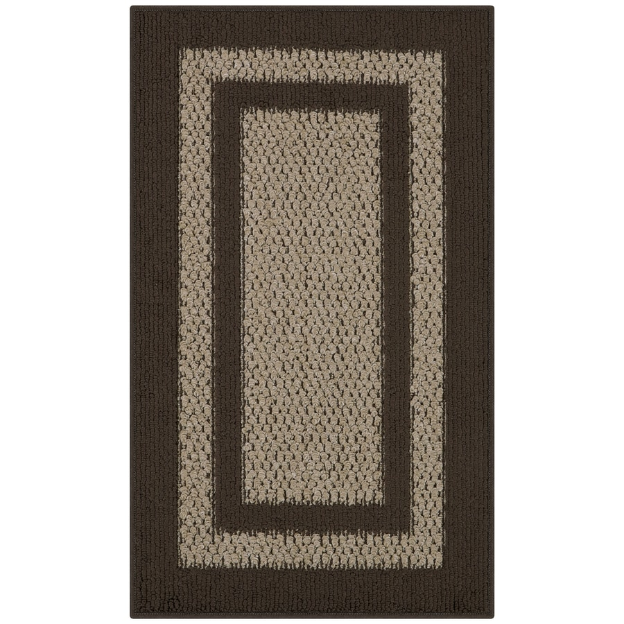 Shop Maples Rugs Brown Tan Indoor Throw Rug Common 2 X 3