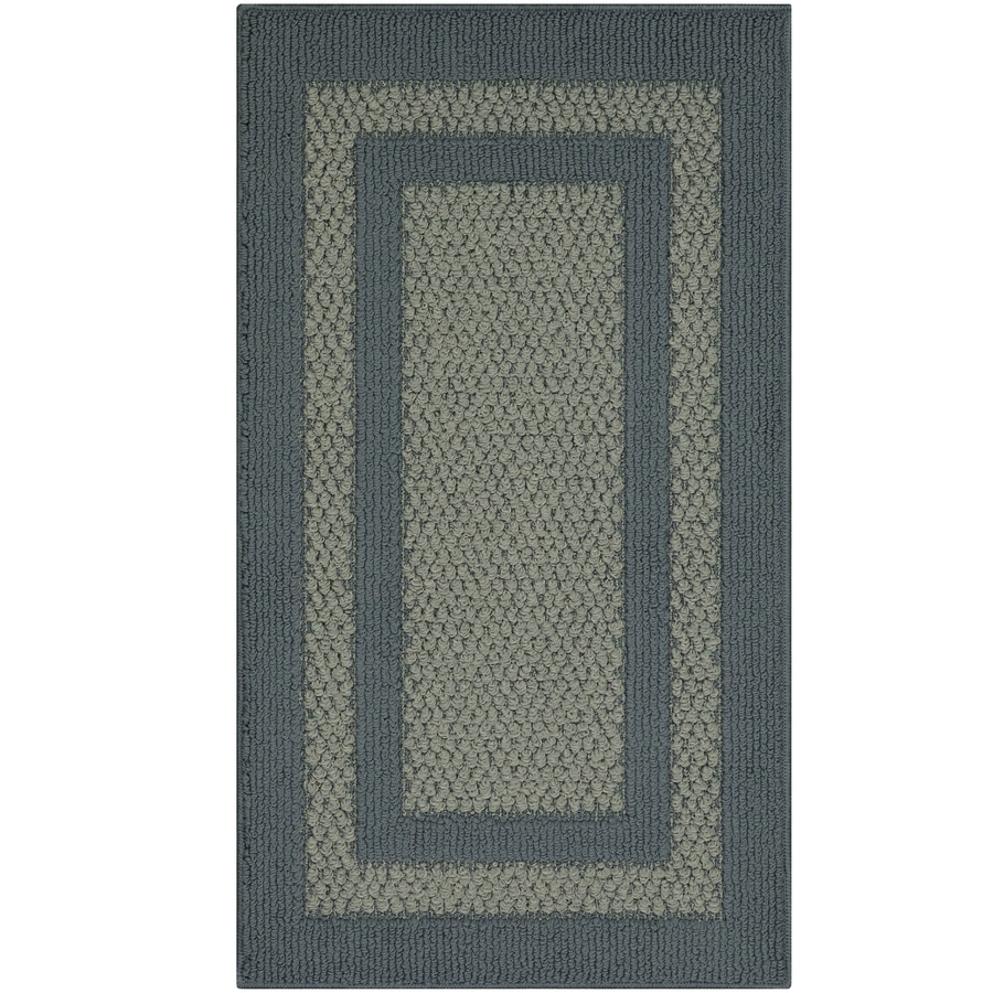 Maples Rugs Antique Blue/Light Blue Rectangular Indoor Machine-Made Throw Rug (Common: 2 x 3; Actual: 1.67-ft W x 2.83-ft L)