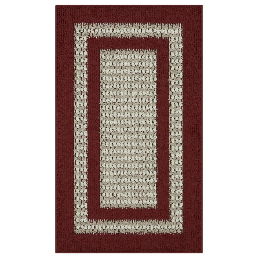 Maples Rugs Cranberry/Maverick Rectangular Indoor Tufted Throw Rug (Common: 2 x 3; Actual: 1.67-ft W x 2.83-ft L)