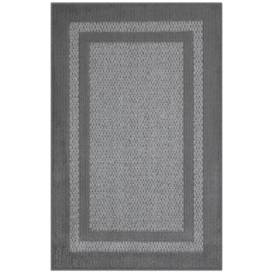 Maples Rugs Graphite/Gray Rectangular Indoor Machine-made Throw Rug (Common: 3 x 4; Actual: 2.5-ft W x 3.83-ft L)