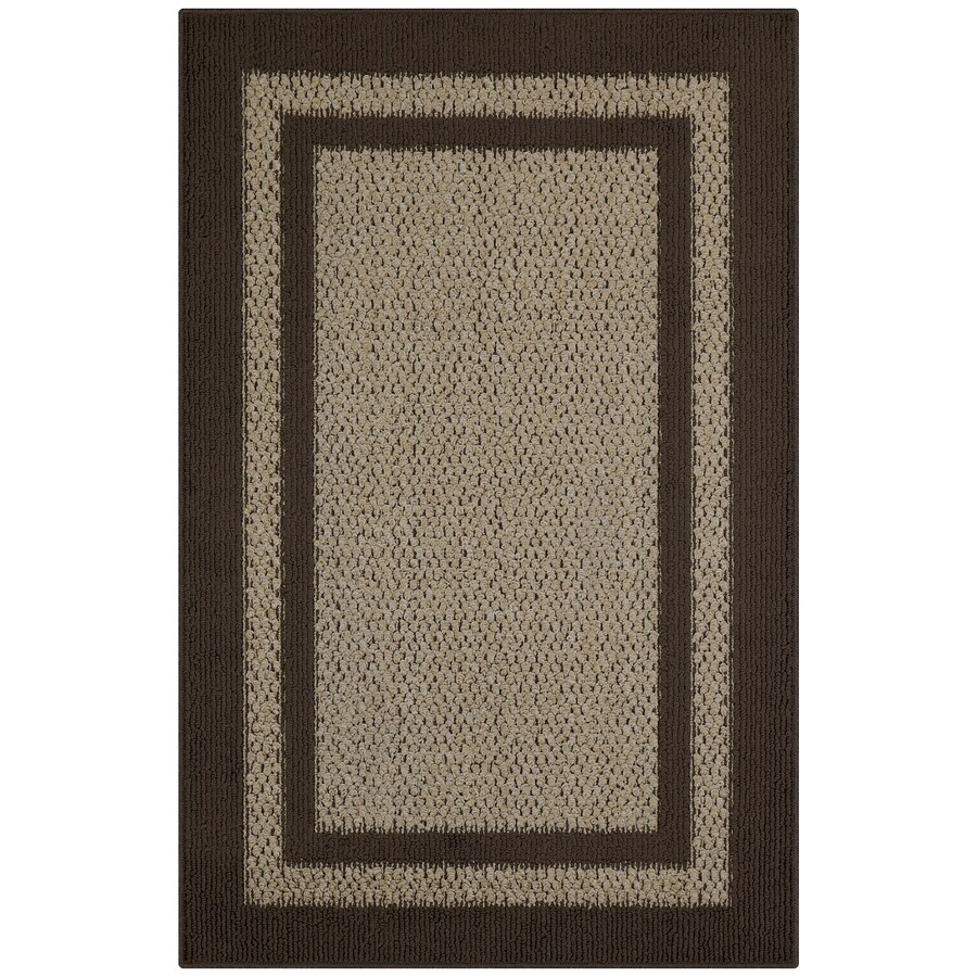shop maples rugs brown tan indoor throw rug common 3 x 4 actual 2 5 ft w x l at. Black Bedroom Furniture Sets. Home Design Ideas