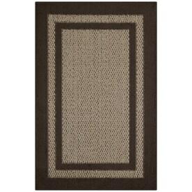 Maples Rugs Brown/Tan Indoor Throw Rug (Common: 3 x 4; Actual: 2.5-ft W x 3.83-ft L)