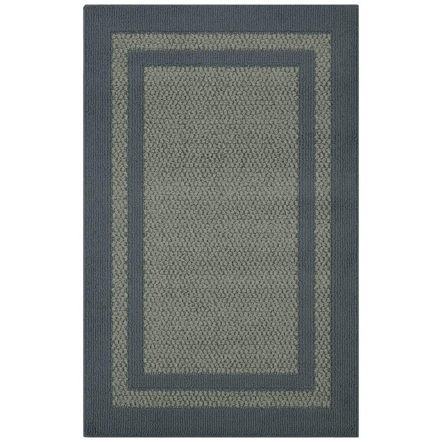 Maples Rugs Antique Blue/Light Blue Rectangular Indoor Tufted Throw Rug (Common: 3 x 4; Actual: 2.5-ft W x 3.83-ft L)