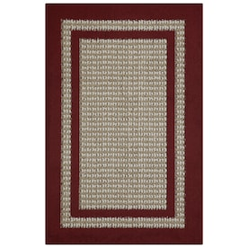Maples Rugs Cranberry/Maverick Rectangular Indoor Machine-Made Throw Rug (Common: 3 x 4; Actual: 2.5-ft W x 3.83-ft L)