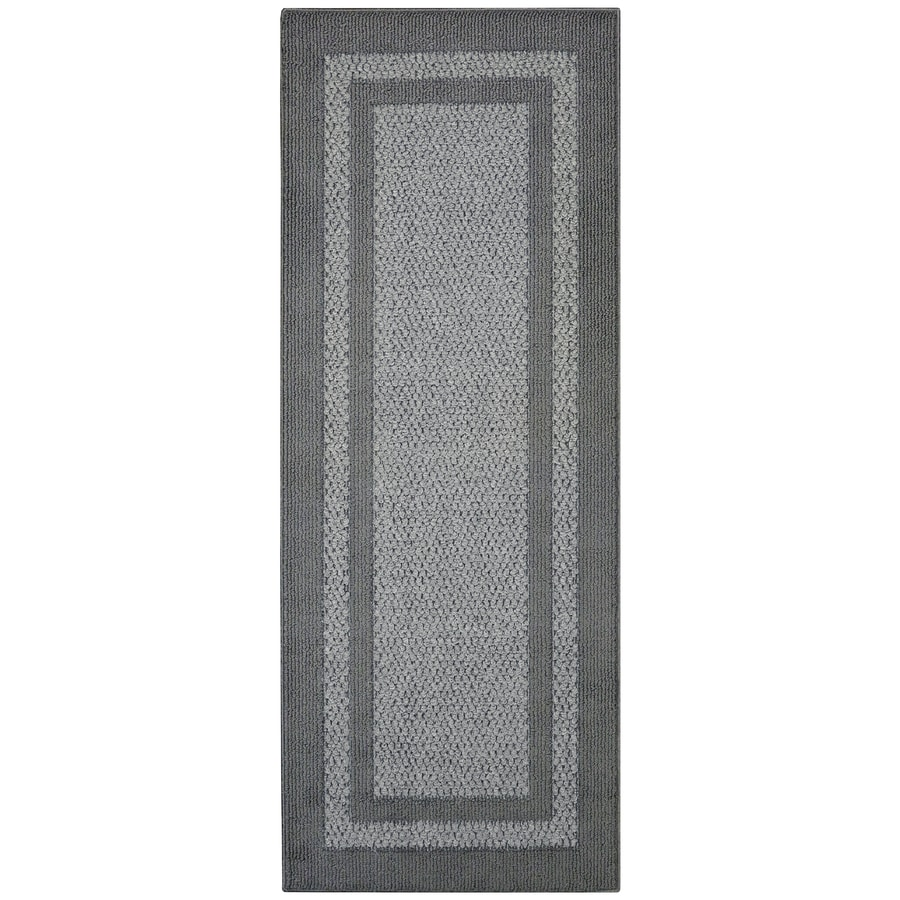Maples Rugs Graphite Gray Indoor Runner Common 2 X 5