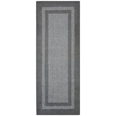Graphite Gray Rectangular Indoor Machine Made Runner Common 2 X 5 Actual Ft W L