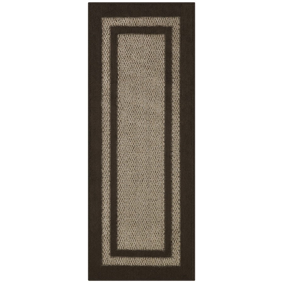 Maples Rugs Brown Tan Indoor Runner Common 2 X 5 Actual 2 Ft W X