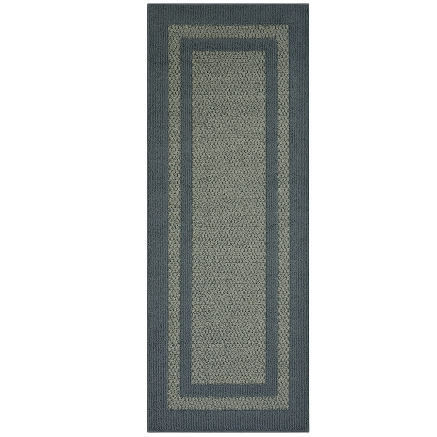 Maples Rugs Antique Blue/Light Blue Rectangular Indoor Machine-made Runner (Common: 2 x 5; Actual: 2-ft W x 5-ft L)