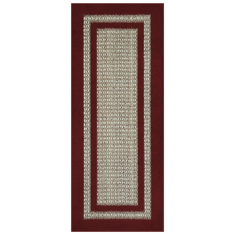 Maples Rugs Cranberry Maverick Indoor Runner Common 2 X