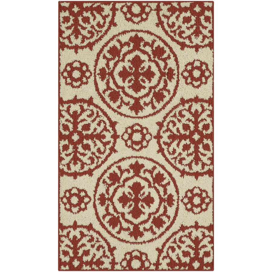 allen + roth Almond Rectangular Indoor Machine-Made Moroccan Throw Rug (Common: 2 x 3; Actual: 1.67-ft W x 2.83-ft L)