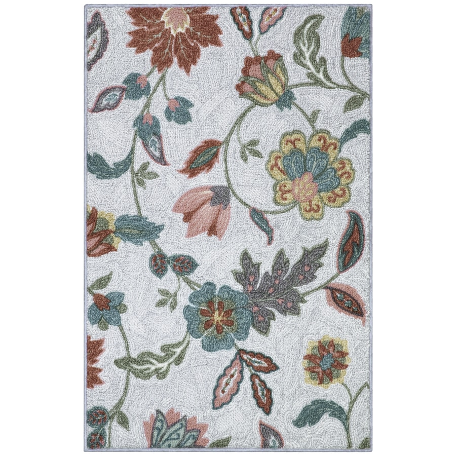 allen + roth Neutral Rectangular Indoor Machine-Made Throw Rug (Common: 3 x 4; Actual: 2.5-ft W x 3.83-ft L)