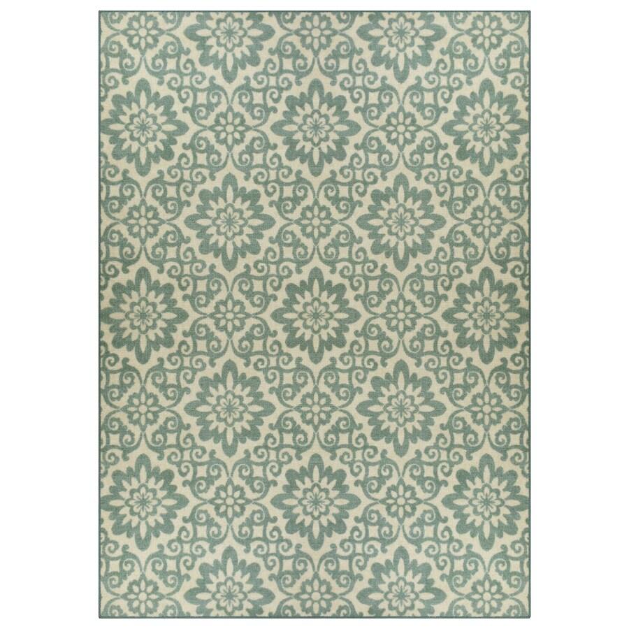Green Rectangular Indoor Tufted Area Rug (Common: 5 x 7; Actual: 5-ft W x 7-ft L)