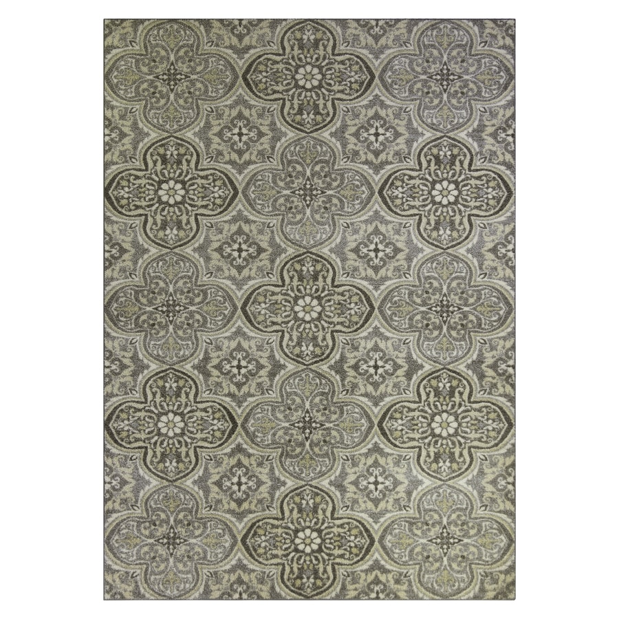 shop maples rugs gray gold indoor area rug common 5 x 7 actual 5 ft w x 7 ft l at. Black Bedroom Furniture Sets. Home Design Ideas