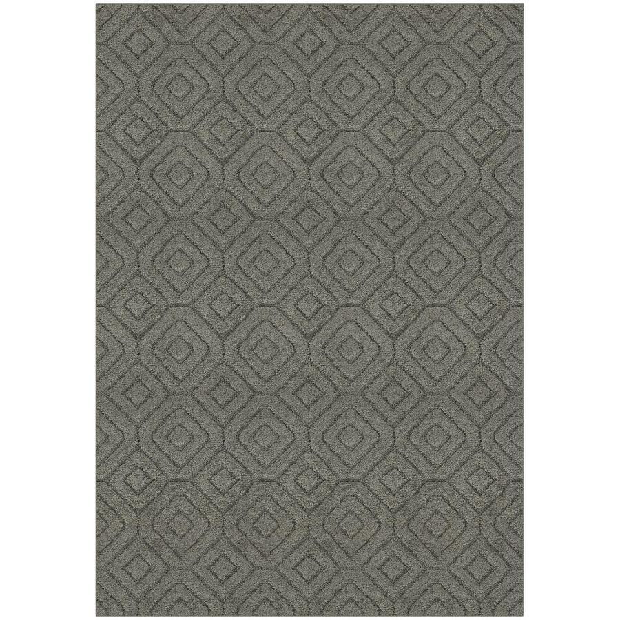 Maples Rugs Value Bay Greystone Indoor Area Rug (Common: 5 x 8; Actual: 5-ft W x 7-ft L)
