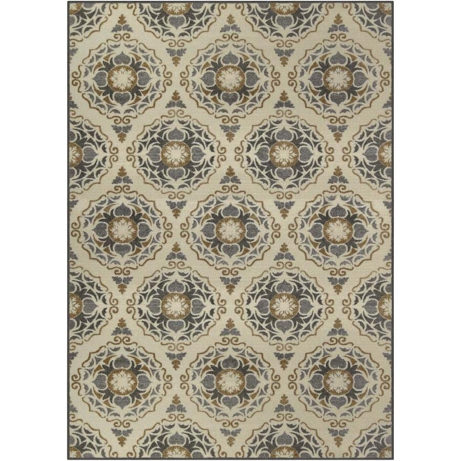 Maples Rugs Value Bay Linen/Gray Indoor Nature Area Rug (Common: 5 x 8; Actual: 5-ft W x 7-ft L)