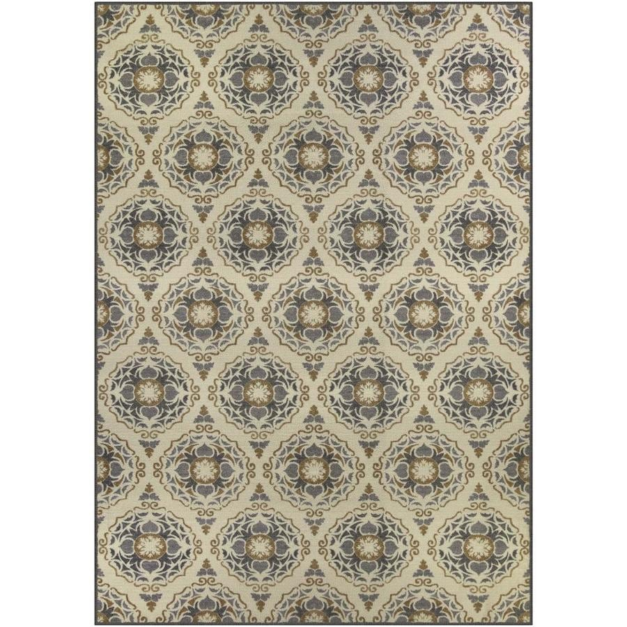 Maples Rugs Value Bay Linen/Gray Rectangular Indoor Machine-Made Nature Area Rug (Common: 8 x 10; Actual: 7-ft W x 10-ft L)