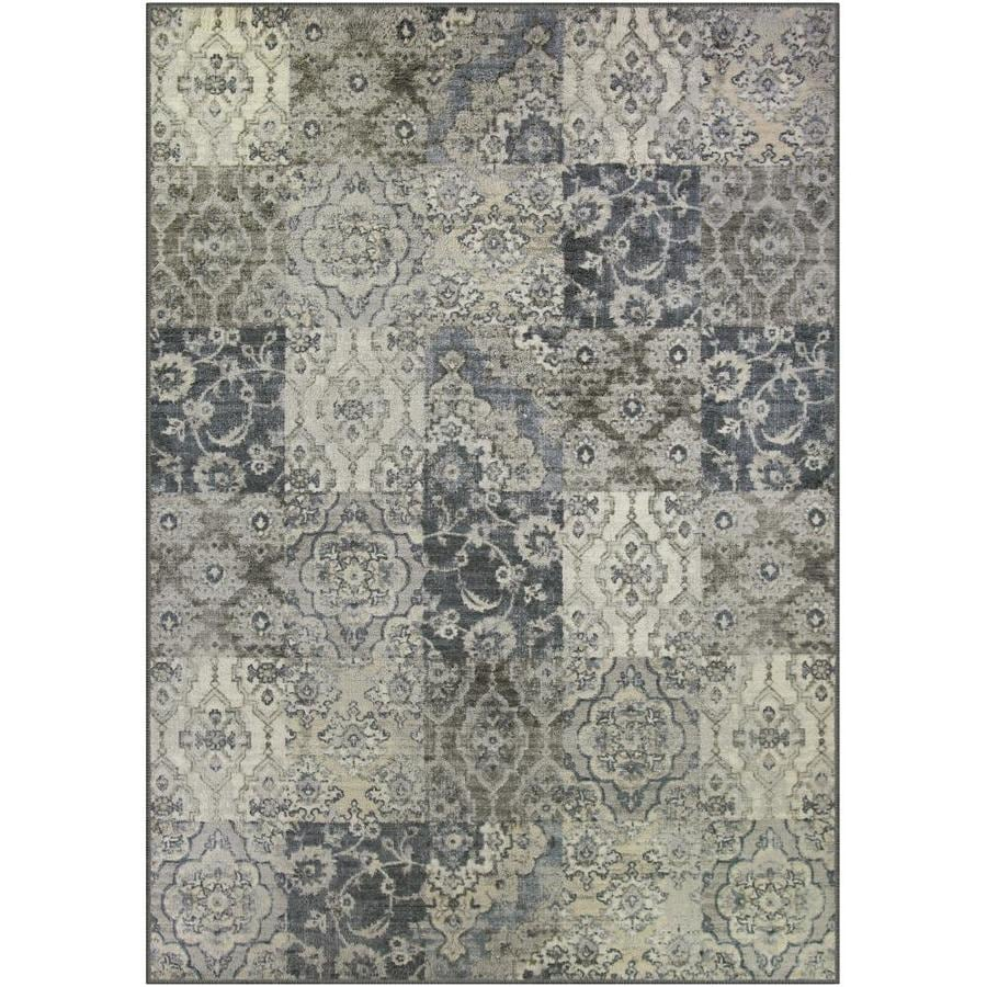 Shop Maples Rugs Value Bay Gray Persian Indoor Distressed