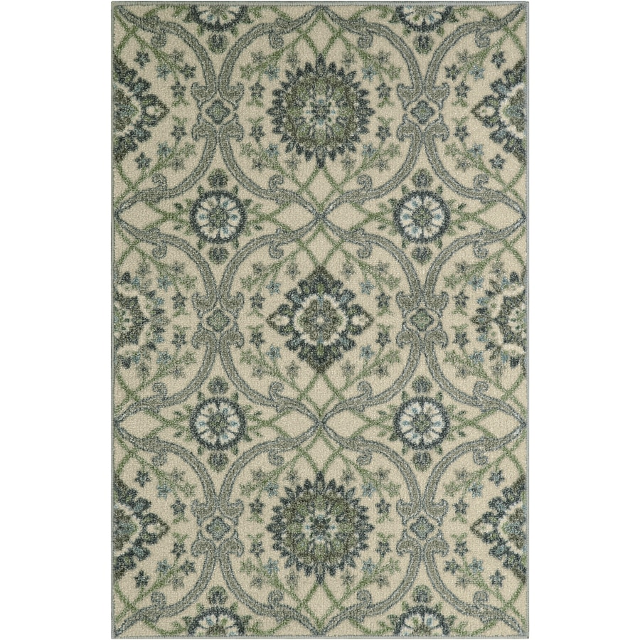 Maples Rugs Blue Green Indoor Throw Rug Common 3 X 4 Actual