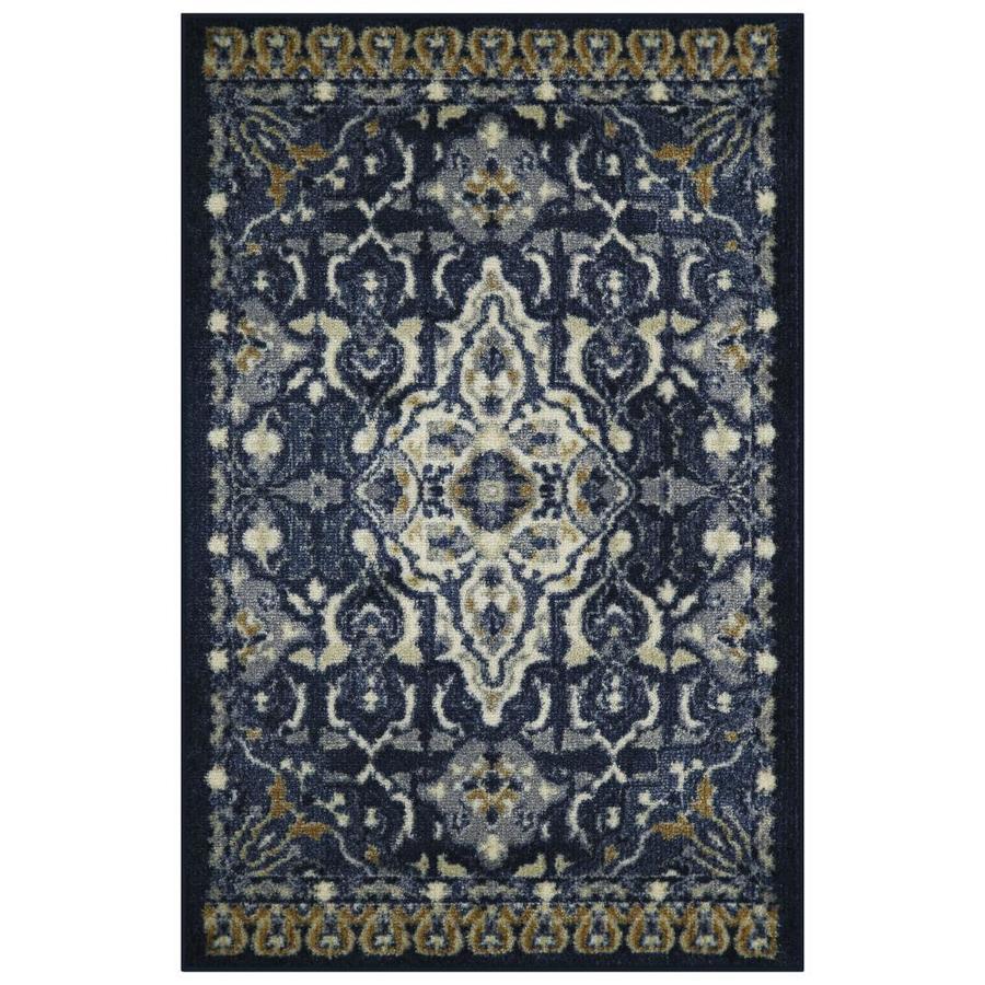 Allen + Roth Blue Indoor Moroccan Throw Rug (Common: 3 X 4