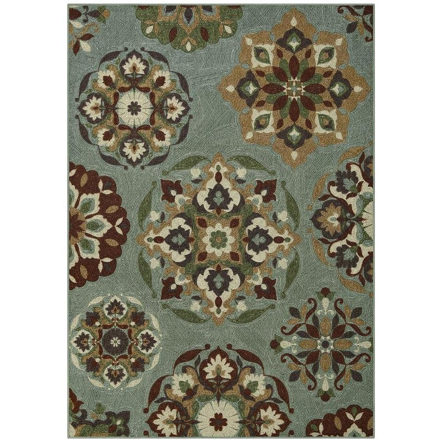 Maples Rugs Value Bay Blue Indoor Area Rug Common 5 X 7