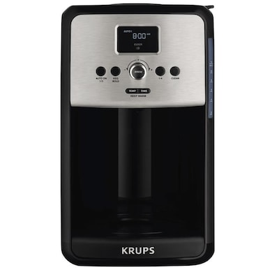 Krups 12 Cup Black Programmable Coffee Maker At Lowes Com