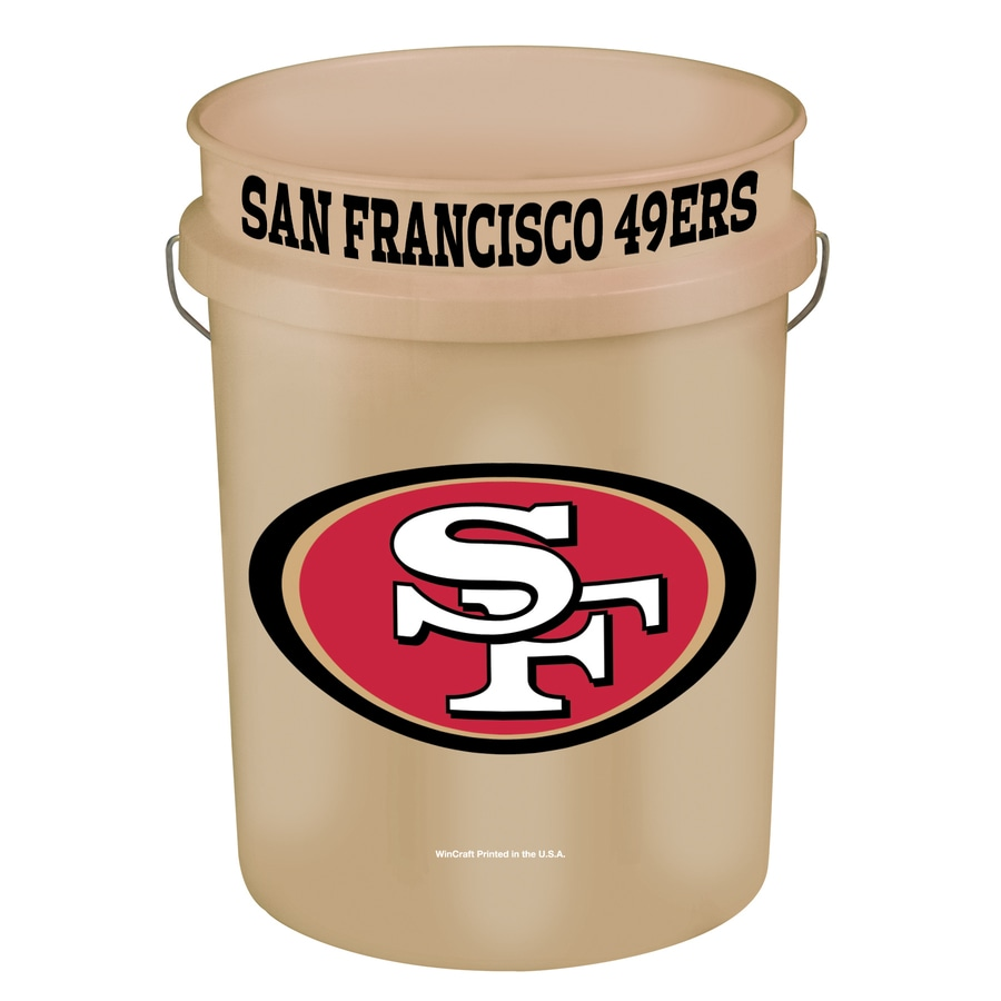 WinCraft Sports San Francisco 49ers 5-Gallon Plastic Bucket