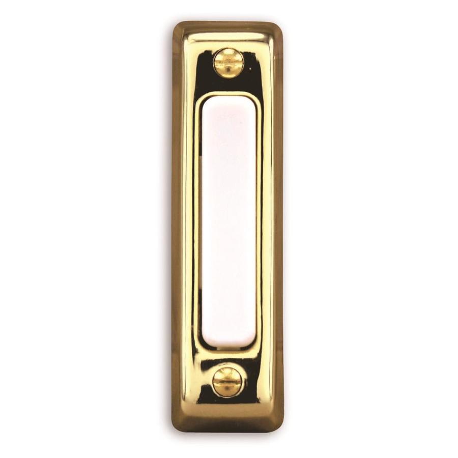 Heath Zenith Polished Brass Doorbell Button